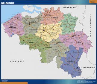 Cartina Fisica Belgio.Mappe Dei Paesi E Del Mondo Laminate Mappe Mondo