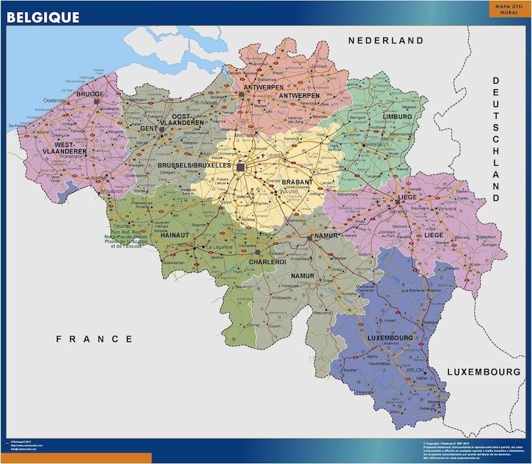 Cartina Del Belgio Da Stampare.Belgio Mappa Mappe Mondo Netmaps