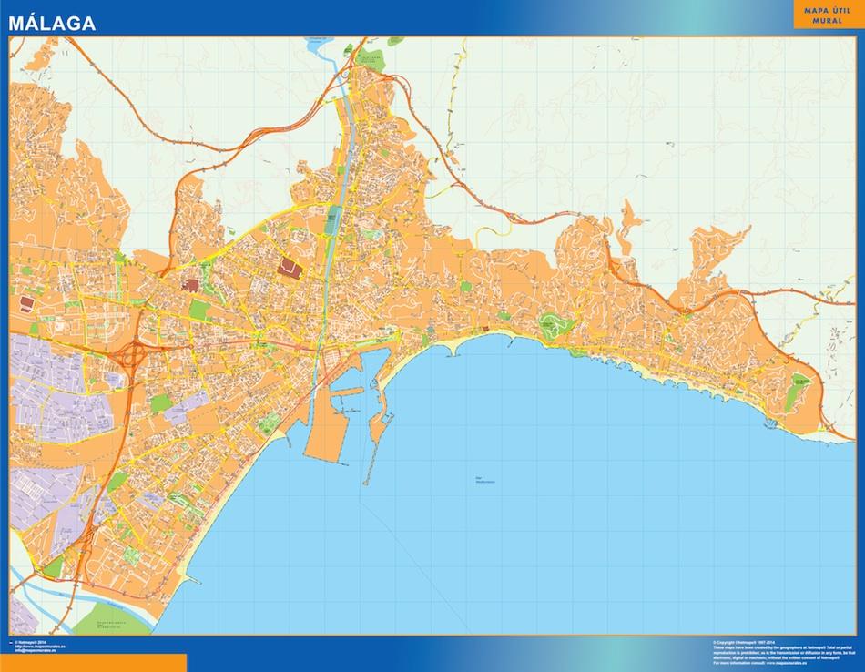 Malaga Spagna Cartina.Mappa Malaga Spagna Mappe Mondo Netmaps