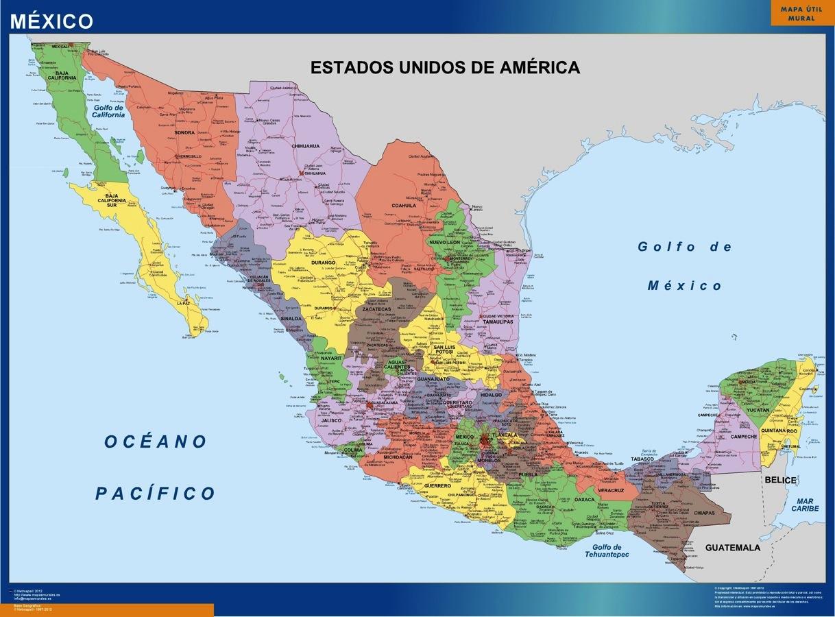 Cartina Stradale Messico.Messico Mappa Mappe Mondo Netmaps