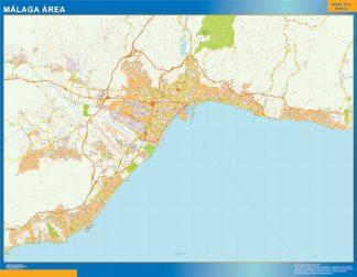 Malaga Spagna Cartina.Strade Mappa Malaga Spagna Mappe Mondo Netmaps