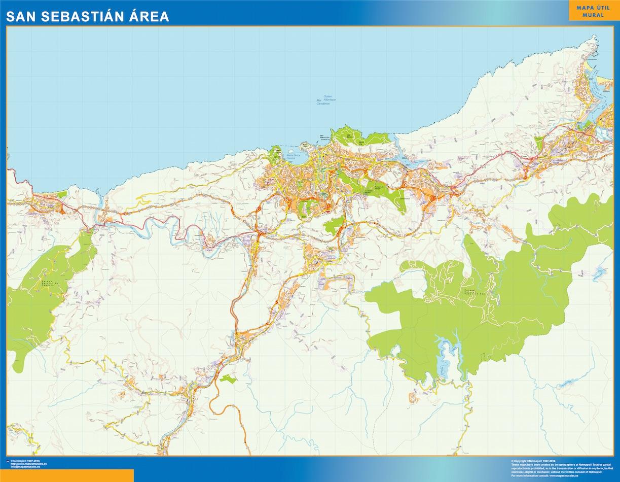 San Sebastian Spagna Cartina.Strade Mappa San Sebastian Spagna Mappe Mondo Netmaps