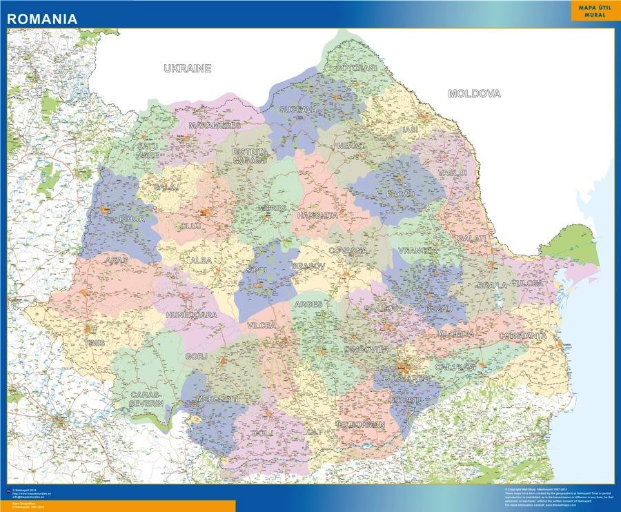 Cartina Dettagliata Romania.Romania Mappa Mappe Mondo Netmaps