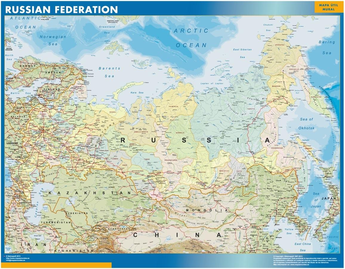 Cartina Geografica Russia Ucraina.Russia Mappa Mappe Mondo Netmaps