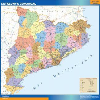 Cartina Catalogna.Catalogna Mappe Murali Dei Paesi Del Mondo