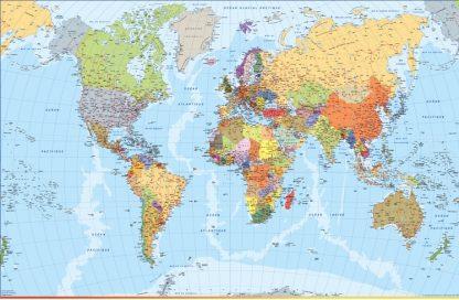 Mappa mondo francese