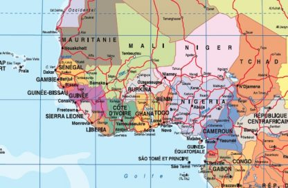 Mappa mondo francese zoom