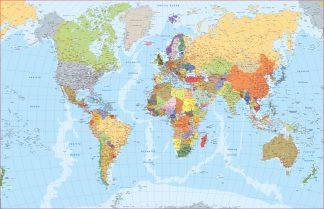 Mappa mondo inglese
