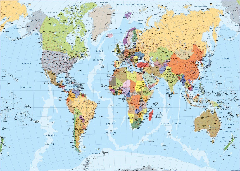 Cartina Mondo Maps.Mappa Del Mondo Spagnolo Mappe Mondo Netmaps